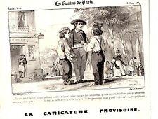 LITHOGRAPHIE 19ème LA CARICATURE PROVISOIRE LES GAMINS DE PARIS