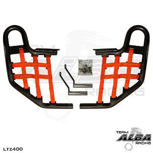 Arctic Cat DVX 400   Nerf Bars  Alba Racing   Black bar Red nets 206 T1 BR