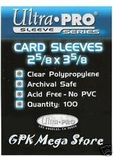 100 ULTRA PRO SLEEVES DECK PROTECTORS ANY CARDS POKEMON YUGIOH MTG MATCH ATTAX
