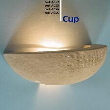 Lampada da parete artigianale in pietra di Matera o tufo Leccese - applique CUP