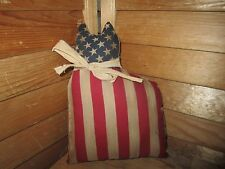 Primitive Americana Cat Doll - flag - grungy