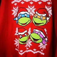 Ninja Turtles Red Sweater Jacket Size XL