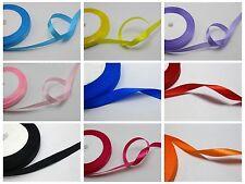 """50 YD 3//8/"""" 10 mm Mix Color Cuadros Tartán Arcos de la cinta Apliques Coser Craft approx. 45.72 m"""