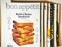 Lot of 7 Bon Appetit Magazines Feb-May 2017 & July-Sept 2018 Issues