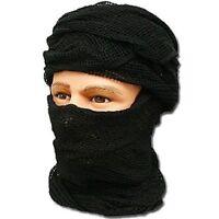 Chèche filet noir en mailles état neuf / foulard écharpe chech shech shèch