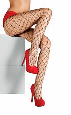 Big Hole Black Fishnet Tights Womens Hosiery Halloween Fish Net Costume OS New