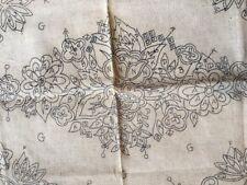 Burlap Rug Foundation~Jacobean Rose Floral ~24x36~American Thread 655~punch hk+