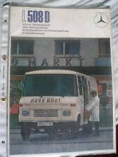Mercedes L 508D Truck brochure Nov 1972 German text