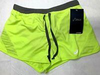 NWT Asics Womens XS Lite Show Activewear Athletic Sports Shorts Pistachio Color