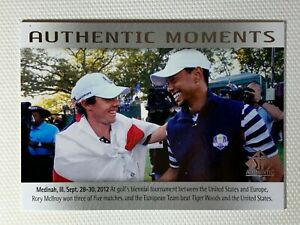 2013 UPPER DECK GOLF SP AUTHENTIC MOMENTS RORY McILROY TIGER WOODS