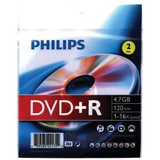 Philips 4.7GB 16x DVD+Rs with Foil Wrap, 2 Pack DR4S6Z02F/27                  AM