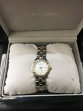 Accutron Women's 28R06 Barcelona Diamond Bracelet Watch with 3 Year Warranty