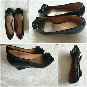 Womens Open Toe Wedge Shoes Ladies Work High Heeled Wedges Size  5