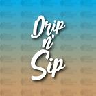 "Drip n' Sip Coffee Drink Barista Press Espresso 6"" Hike Camp Custom Vinyl Decal"