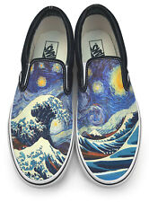 Great Wave Starry Night Slip-on Vans Brand Shoes
