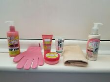BN SOAP &GLORY Set Body Wash, Body Lotion, Face Wash, Hand Food, Glove, Flannel
