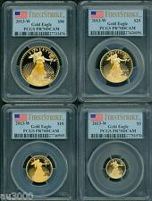 2013-W 4-Coins Set $50 $25 $10 $5 Gold Eagle Pcgs Pr70 Proof Pf70 First Strike !