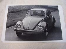 1976 VOLKSWAGEN  VW  BEETLE   B&W   11 X 17  PHOTO  PICTURE