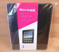 Snugg iPad 1 Black PU Leather Case Cover Stand Brand New