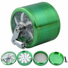 60 mm 4 layer Zinc Alloy Hand Crank Herb Mill Crusher Tobacco Smoke Grinder