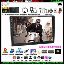 10''2 Din GPS Android Car Radio Airplay+Camera FM Touch iOS Mirror Link Wifi BT