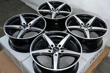 "17"" Wheels Fit Hyundai Elantra Azera Sonata Tiburon Civic Accord Black Rims 5Lug"