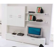 Parete attrezzata muro moderna arredo casa moderno bianco arredo salone