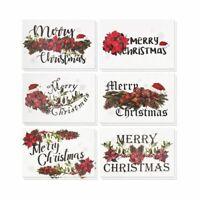 "36 Merry Christmas Greeting Cards Bulk Box Set Festive Xmas Floral Design 4""x6"""