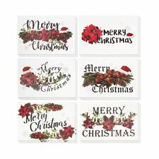 36 Merry Christmas Greeting Cards Bulk Box Set Festive Xmas Floral Design 4
