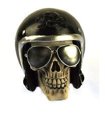 The Enforcer - Motorcyclist Skull 16cm / 15.2cm