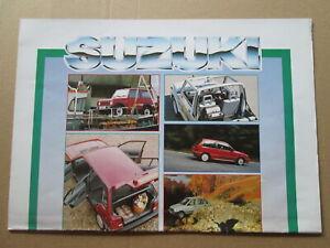 Suzuki 4 x 4,the range brochure.Suzuki four wheel drive brochure.