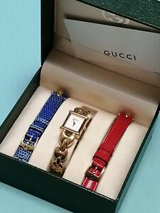 Original Gucci Uhr 1800L Vintage Damen Vergoldet