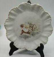 "Britannia Porcelain Works Karlsbad Austria 8 3/8"" Scalloped Plate Children"
