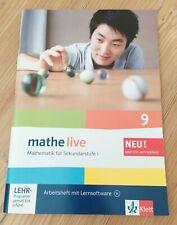 Mathe live 9 Arbeitsheft mit Lernsoftware CD NEU Schule Mathematik BW