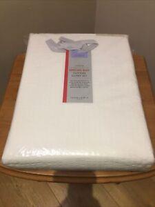John Lewis Cotton Duvet Set King Size Emma Seersucker Weave 155 Thread Cream New