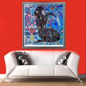 JIANG TIE-FENG Color SERIGRAPH Chinese Signed Original Tang Dynasty Art gouache