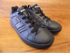 Donnay Deuce Black Leather Classic Trainers Size UK 5 EUR 38