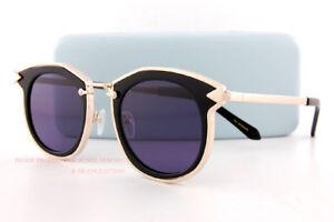 Brand New KAREN WALKER Sunglasses Bounty Black/Smoke 1701424 Women