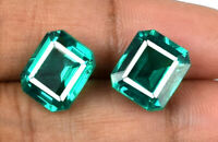 10-12 Ct Zambian Emerald Loose Gemstone Pair 100% Natural Octagon AGSL Certified