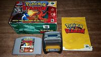 POKEMON STADIUM 1 NINTENDO 64 N64 EXMT COMPLETE IN BOX W TRANSFER PAK!