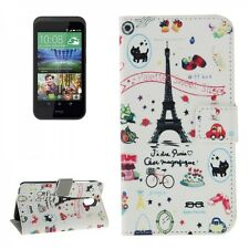 Protective Case Pattern 43 for HTC Desire 526G Book Cover Case Wallet NEW