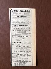 B8c Ephemera 1968 Advert Margate Dreamland Joyce Bond Revue Planet Of The Apes