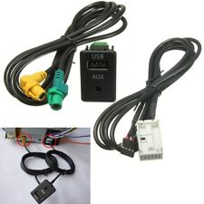 USB AUX in Socket Cable Interface For VW Bora Golf MK6 Jetta Passat 3CD035249A
