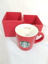 🇺🇸 Starbucks Mermaid Logo Red Demitasse Cup 2015 Mini Espresso 3 oz Mug
