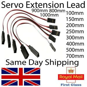 Servo Extension Lead for RC Models Futaba JR Hitech All Servo brands Wire Cable