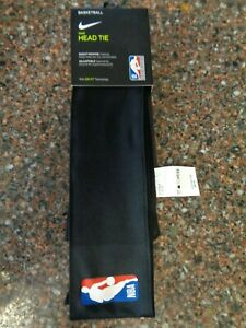 Nike NBA Black Head Tie Authentic Official Dri-fit One Size Headband Headtie New