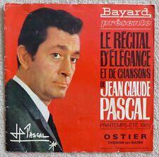 Jean Claude Pascal Livret Publicitaire Vêtements Bayard 1965