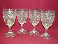 Set of Four (4) Crystal d'Adriana - LUNA Pattern - WINE GOBLETS