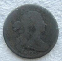 1803 1C BN Draped Bust Large Cent Fine Detail Corroded Full Date Shows