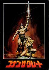 CONAN THE BARBARIAN Japanese Souvenir Program 1982, Arnold Schwarzenegger